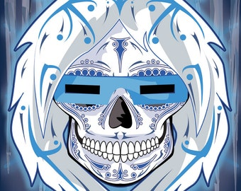 Captain Cold Sugar Skull 11x14 print