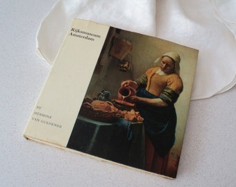 1960s Rijksmuseum Amsterdam Book. 17th Century Dutch Paintings. Rembrandt, Vermeer, Frans Hals. 48 Color Plates.