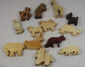 Toy Animals of Wood for Child's Play and  Decor - Kids Toys
