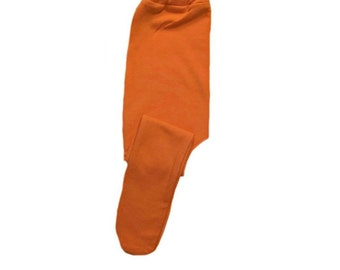 Orange Baby Girl Tights 6 Sizes for Preemie, Newborn and Toddlers up to 24 Months. Perfect for Halloween! A Cute Addition to a Costume!