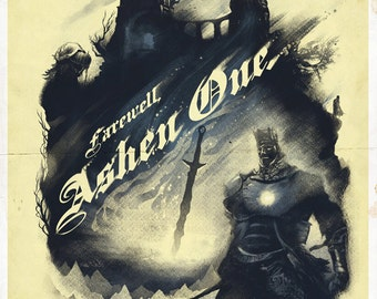 FIRELINK SHRINE Video Game Art Poster