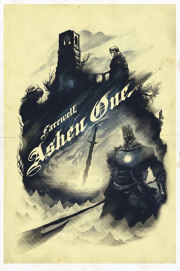 Firelink Shrine Video Game Art Poster