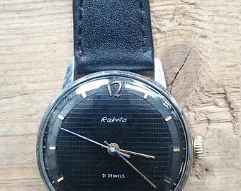 25 OFF SALE Vintage watch Raketa, mechanical watch, men watch, mens watch