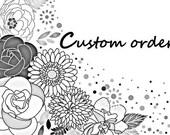 Custom Order - Large die cut Circles