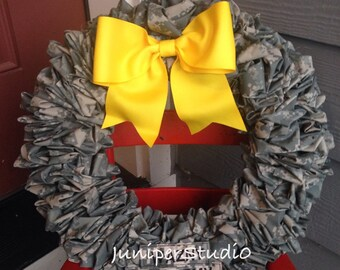 ARMY Wreath - ACU Homecoming Deployment Navy Air Force Marines military decor
