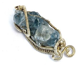 Druzy Pendant, Raw Blue Pendant, Raw Crystal Pendant, Sterling Silver Pendant, Necklace Pendant, Druzy Necklace, Druzy Stone