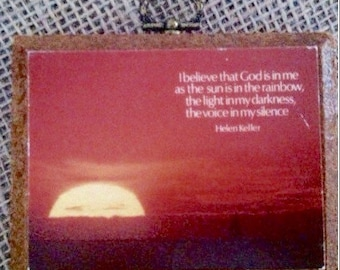 Sunset Photo Helen Keller Quote *PRICE REDUCED!*
