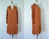 1920s project rust orange dress // patternmaker seamstress designer wanted