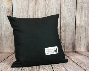 Black Pillow Cover, Accent Cushion Case, Complimentary Pillow Cover, Decorative Throw Cushion Cover, Dark Living Room Sofa Accent