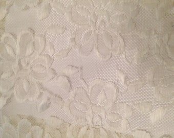 """Lace, Bridal, ,3.5 yds L x 60"""" W, Lace fabric, Bride, Lace Material, curtains, Lace panel, Wedding,remnant, yardage"""