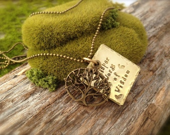 Tree Whisper Words of Wisdom Necklace