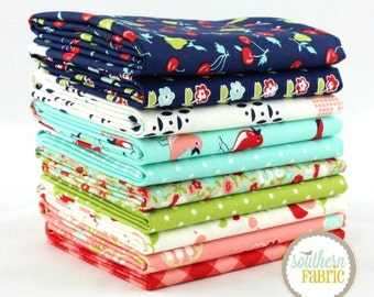 "Vintage Picnic - Half Yard  Bundle - 10 - 18""x44"" Cuts - Bonnie and Camille - Moda Quilt Fabric"