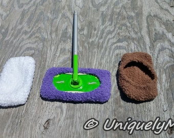 Custom Made,Fluffy Swiffer Floor Cover,Mop Cover,Swiffer Duster,House Cleaning,Eco Friendly,Floor Duster,Reusable,Money Saving,Broom
