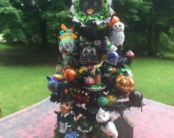 Dollhouse Miniature Halloween Witch Wizard Tree Layaway Available