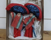 Vintage Mexican Pair of Dolls