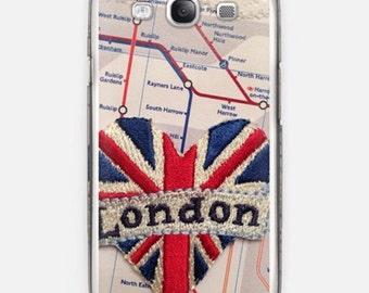 Samsung Galaxy S III smartphone cover with London heart