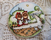 Joan Walsh Anglund Plaque June 1966 Vintage at Quilted Nest