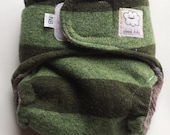NEWBORN Wool Diaper Cover - Velcro - Touchtape - Wool Soaker - Wool Cover - Wrap Style - 100% Wool - Extra Small