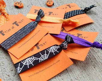 The Teal Pumpkin Project Halloween Hair Ties Party Favors or Treats for Allergy