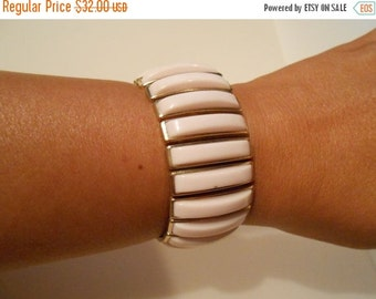 50% OFF CLEARANCE Risking Her Pinks - 1950s Palest Pink Lucite Expander Bracelet