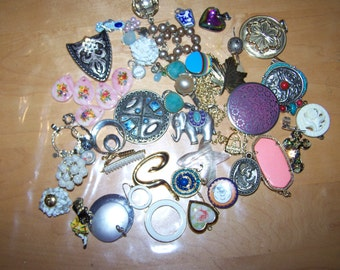 Large Lot of Vintage Pieces Jewelry Reuse Upcycle Craft