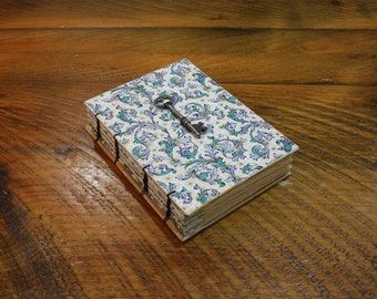 Floral Journal with Vintage Skeleton Key, Easter Gift, Wedding Guest Book, Hostess Gift, Unique Birthday Gift, Writing Gift