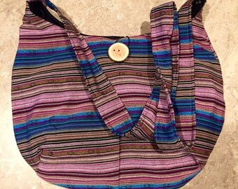 Striped crissbody bag
