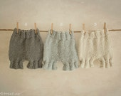Baby Shorts, Baby Pants, Diaper Cover, Newborn Props, Baby Props, Gray, Off White Pants, RTS, Natural Props, Baby Boy, Baby Girl, Mohair