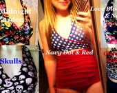 You choose the fabrics Reversible wraparound multi way bikini top Gina Bikini TOP  Top fits up to G cup size