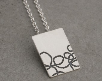 In the Margins...Doodle Pendant