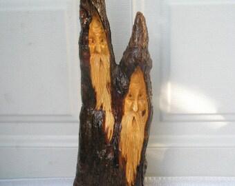 Free Shipping Sidekicks Wood Spirit Santa carving