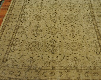 "Elegant Overdyed Vintage Turkish Carpet / 5'8""x9'5"" / 172x287cm"