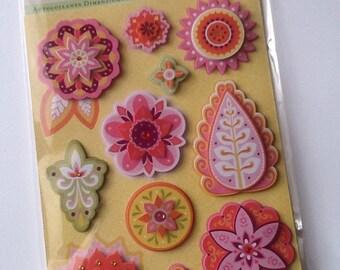CIJ SALE Lily Ashbury Flowers Grand Adhesions 11pcs // K&Company