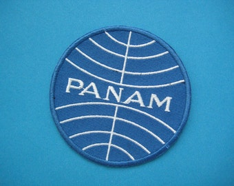 Iron-on Embroidered Patch PAN AM 3 inch
