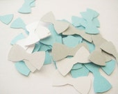 Blue, Gray and White Bowtie Table Scatter or Confetti