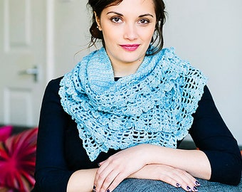 Crochet pattern : Sky shawl/scarf