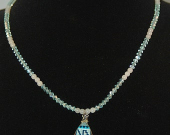 Crystal and Jade Zuni Necklace