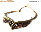 Reserved Brutalist Nancy Aires 1970s Copper Necklace Choker Metal