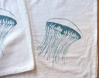 Jelly Fish Kitchen Tea Towel