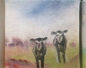 4 x 4 Cow Painting