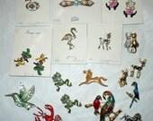 Lot 17 Vintage whimsical Animal Pins