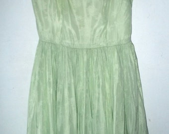 Vintage green party dress prom dress bridesmaid dress