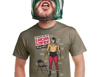 Lucha Libre shirt mexican wrestling t-shirt mens wwf wwe mma funny wrestler gift nacho libre movie tshirt tees for guys xl printed novelty