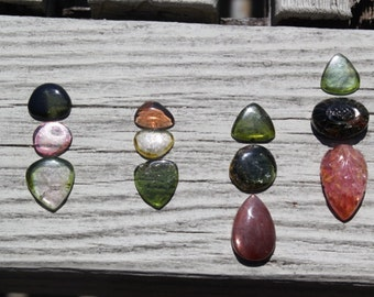 50 % off any sets of U- Pick, tourmaline cabochon pendant sets, jewelry making, designers, silver smith, ring stones, focal stones, natural