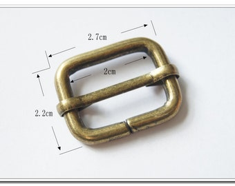 "10 PIECES, 2cm, 7/8 Inch Moving Bar Slide, Antique Brass / Bronze Finish, 7/8"" Movable Bar Slide, Purse Handbag Bag Making Hardware Supplies"
