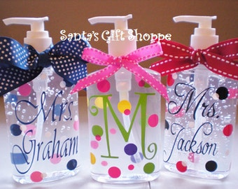 Hand Sanitizer (Personalized) - ONE 8 oz. - Teacher Gift - Birthday -  - Adults/Teens - Gifts - Secret Santa/ Stocking Stuffer - Easter Gift