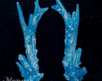 Blue/Gold Flash Crystal Antlers