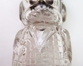 Vintage Perfume Bottle Figural Dog in Suit, w/Cane & Hat