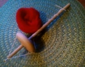 Top Drop Spindle 2.4 oz. Unfinished And Wool Roving Kit For Hand Spinning Yarn Free Shipping