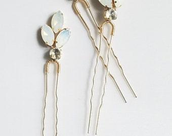 Bridal crystal hair piece, Crystal Hair pin, Gold Bridesmaid Hairpin, Bridal Hair Comb Accessory, Gold Wedding Hair comb {Nemesis Hairpin}